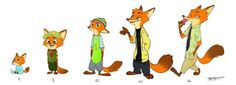 Timeline - Nick Wilde by Frava8  Nickvolution  Source: frava8.deviantart.com #Zootopia #ZootropolisZootopie #Nick Wilde