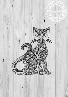 A personal favorite from my Etsy shop https://www.etsy.com/listing/464133512/cat-clipart-cat-svg-cricut-silhouette