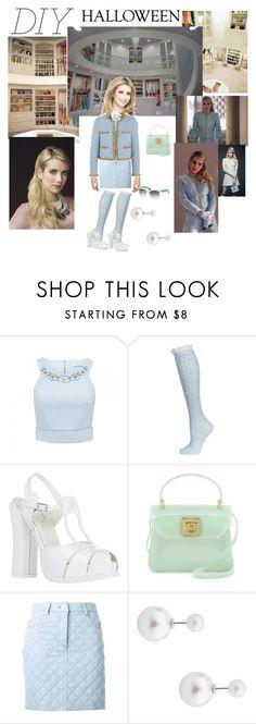 """DIY Halloween Costumes - Chanel Oberlin"" by andyarana ❤ liked on Polyvore featuring Chanel, Forever New, Topshop, Fendi, Furla, Moschino, Miu Miu, halloweencostume, DIYHalloween and ScreamQueens"