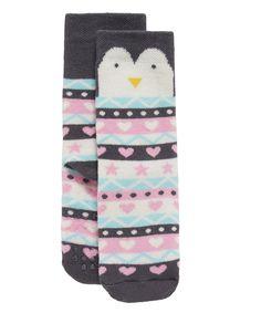 Penguin Slipper Socks