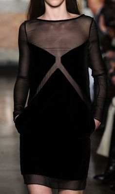 black mesh + velvet x dress