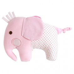 Adorable pink Elephant Softie Rattle by Tiger Tribe! Made from soft jersey and cotton fabrics in a lovely blend of decor colours - a beautiful and unique baby gift! Fabric Toys Diy, Diy Toys, Tiger Tribe, Baby Shop Online, Unique Baby Gifts, Baby Rattle, Pink Elephant, Baby Design, Softies