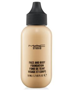M.A.C. face and body foundation.  Sheer yet build-able.