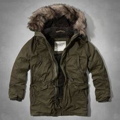 Hombre - Parka Green Mountain | Hombre - Chaquetas y prendas de abrigo | Abercrombie.com
