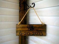 Save the Date Sign   Rustic Wood Wedding by WoodenThatBeSomethin, $28.00
