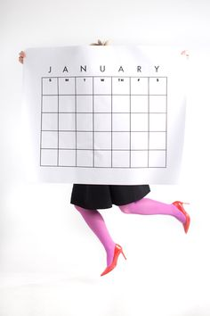Back in 2014 we made a printable huge calendar and it doesn't have the year on it so you can use it now! whoop whoop