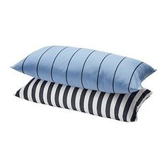 GRENÖ Pad - blue/white stripe - IKEA adorable pillows! $8.99