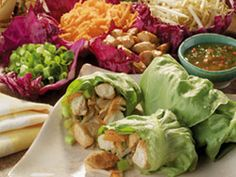 Asian Wraps | Thanks to the cool Bibb lettuce that holds the flavor-packed chicken filling, this is one of our most requested low-carb chicken recipes.
