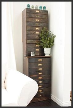 Flat File...I definitely need one of these.  In my small house, this would be perfect.  It takes up practically no linear space!