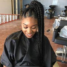 Magnificent Ghana Braids Into A Ponytail Keziah Styles Pinterest Ghana Short Hairstyles Gunalazisus