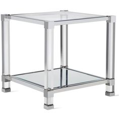 Savoy End Table ($799) ❤ liked on Polyvore featuring home, furniture, tables and accent tables