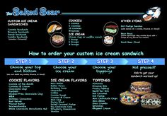 Baked Bear Menu Board