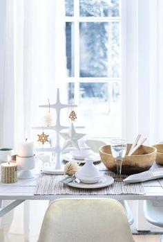 .Navidad en blanco y madera