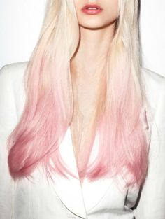 Pretty ombré pink and blonde!