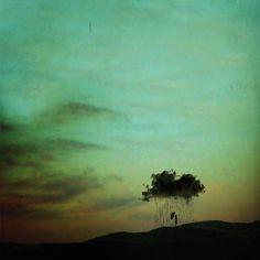 Lissy Elle Laricchia - That Dark Cloud That Follows You Everywhere    image found via Frank Zumbachs Mysterious World