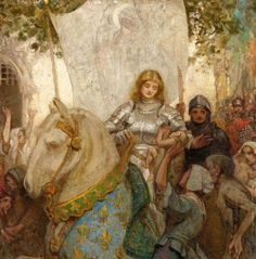Allan Douglas Davidson, Joan of Arc. Joan D Arc, Saint Joan Of Arc, St Joan, Catholic Saints, Patron Saints, Flor Tattoo, Jeanne D'arc, Templer, Female Knight