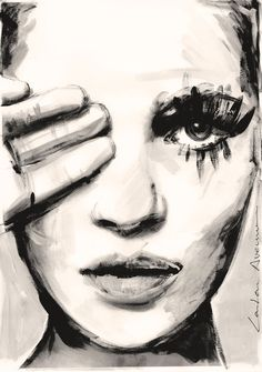 Black And White Painting, Black And White Abstract, White Art, Art Journal Inspiration, Painting Inspiration, Abstract Faces, Abstract Art, Art Painting Tools, Face Art