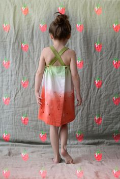 Robe sunday pastèque diy - Watermelon sunday dress #sewing #diy #vanessapouzet