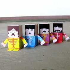 beatles paper toys...sure thing my baby can make one of these