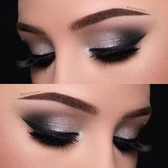 Eye Makeup Silver Smokey Eyeshadow Tutorials Ideas For 2019 Denitslava Makeup, Eye Makeup Glitter, Makeup Eye Looks, Simple Eye Makeup, Makeup Inspo, Bridal Makeup, Wedding Makeup, Makeup Inspiration, Makeup Ideas
