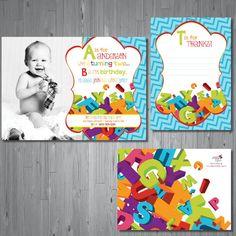 ABC Birthday Invitation first birthday party invitation alphabet