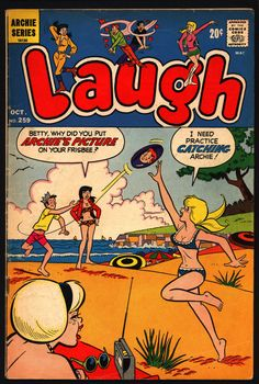 Laugh Archie Comic Publications, Inc… Archie Comic Books, Archie Comics, Comic Book Characters, Comic Character, Vintage Comics, Vintage Books, Archie Betty And Veronica, Josie And The Pussycats, Archie Andrews