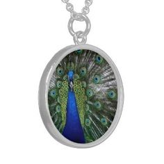 Sterling Silver peacock necklace. $85.95 http://www.zazzle.com/peacock_necklace_gifts_peafowl_plumage_bird_gift-177487442335075345?context=114375226611164705=238222133794334761
