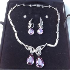 Signed Vintage Margot de Taxco Mexico Sterling Silver Amethyst Necklace Choker #MargotdeTaxcoSigned #Choker