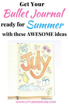 Find some awesome summer ideas for your bullet journal including, layouts, collections, bucket lists, spreads, doodles, themes and tutorials for you bujo. There is just so much bullet journal inspiration #bujo #bulletjournal #bujoinspiration