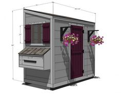 I want to make this!  DIY Furniture Plan from Ana-White.com  Free shed chicken coop plans!