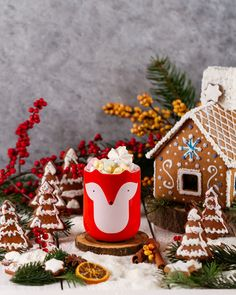 Nice with hot Marshmallows, Photographer Portfolio, Cocoa, Gingerbread, This Is Us, Christmas, Lisa, Fox, Drinks