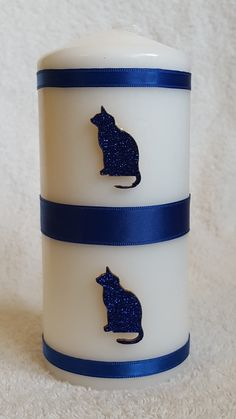 Blue glitter cats from welshwaxesandcrafts.co.uk