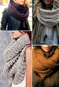 Amazing Cozy Winter Scarfs with Different Colours