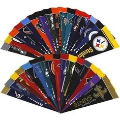 "NFL Football 4"" x 9"" Mini Pennant Banner Flag Fan Cave Decor 32 Pack Set NFL NEW #NFL"