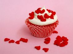 Large Red Heart Confetti Sprinkles for Cupcake Decorating (3 ounces)