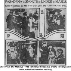 The longer we wear masks, the more they seem to become a part of the fashion production system. I got curious about the masks worn in California during the 1918 Flu Pandemic, and how they compare to what we're wearing today. Learn more at the link below for what I discovered... American Red Cross Volunteer, Oakland Museum, Justice Of The Peace, Armistice Day, San Francisco Chronicle, Photographs Of People, National Archives, Influenza, Historical Society