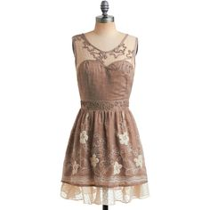 Old-Fashioned Romance Dress ($32) ❤ liked on Polyvore