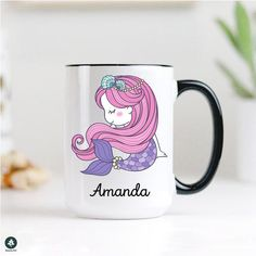 Cute Gifts For Friends, Christmas Gifts For Friends, Presents For Friends, Christmas Mugs, Gifts For Mom, Mermaid Mugs, Cute Mermaid, Mermaid Gifts, Birthday Gifts For Sister