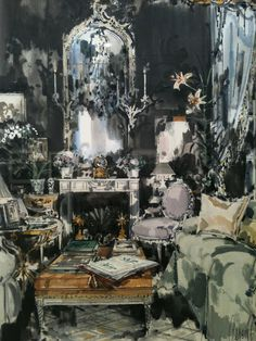 David Hicks London drawing room, 1985 by Jeremiah Goodman