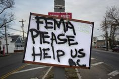Plea for help from FEMA during Katrina-You're just paranoid. The Government will help us in an emergency, that's their job.