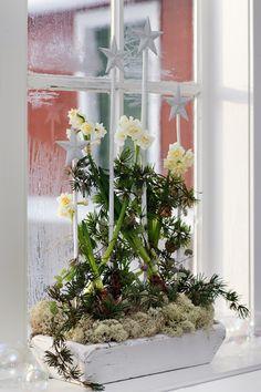 Lille Lykke: Kerst decoraties voor de vensterbank.