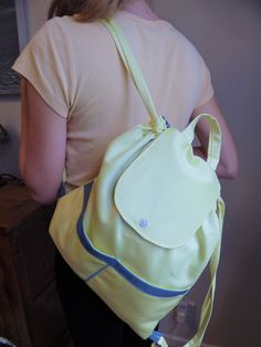 Your place to buy and sell all things handmade Beige Backpacks, Yellow Backpack, Japanese Knot Bag, Yellow Birthday, Floral Shoulder Bags, Daisy Pattern, Summer Bags, Little Bag, Knitted Bags