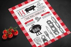 BBQ party invitation on Behance