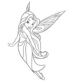 Disney Fairies Silvermist Coloring Pages On Pinterest
