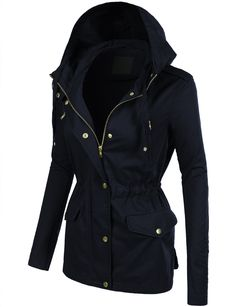 Fur Trim Cotton Anorak in Dark Grey (more colours available ...