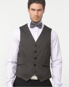 Le Château: Cotton Blend Stripe Vest, $55.00. Made in Canada