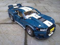 Ford Shelby, Shelby Gt500, Lego Car, Lego Vehicles, Awesome Lego, Vintage Lego, Lego Design, Lego Stuff, Lego Technic