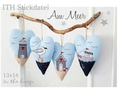 ITH embroidery File Heart * At the sea * **ITH Stickdatei Herzen Am Meer ab dem Rahmen** Free Motion Embroidery, Embroidery Files, Embroidery Patterns, Machine Embroidery, Crochet Patterns, Etsy Embroidery, Embroidery Hearts, Knitting Patterns, Sewing Crafts