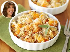 Your holidays don't need yet ANOTHER calorie-heavy dish! Try this lightened-up butternut squash casserole in today's People Great Ideas! #holidays #fall #sidedish