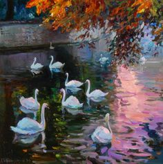 Lovely light in this painting by Evgeny and Lydia Baranov http://www.baranovs.com/